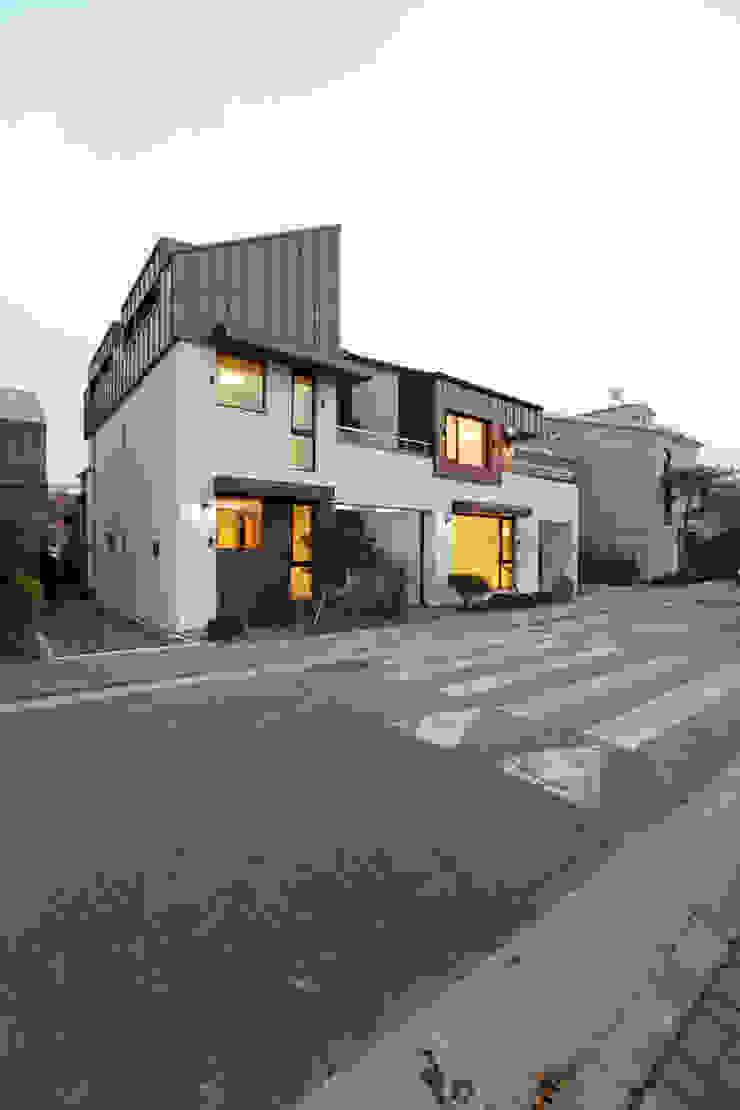하남주택의 도로변모습 주택설계전문 디자인그룹 홈스타일토토 모던스타일 주택