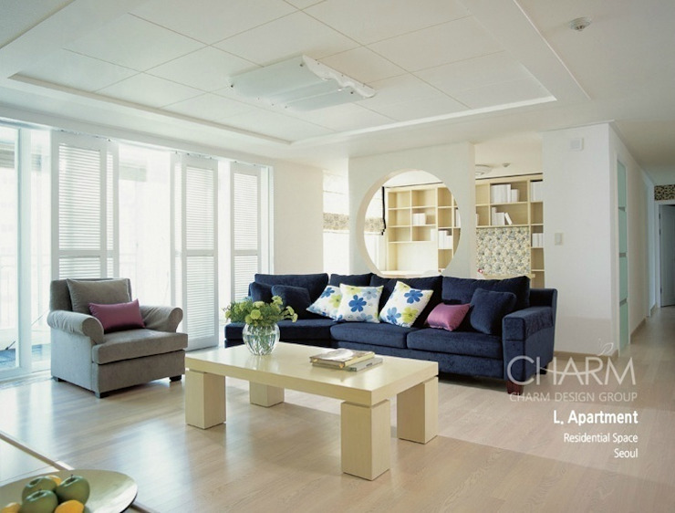 Livings de estilo  por 참공간 디자인 연구소