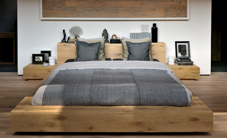 Oak Madra Bed de bolighus design Escandinavo