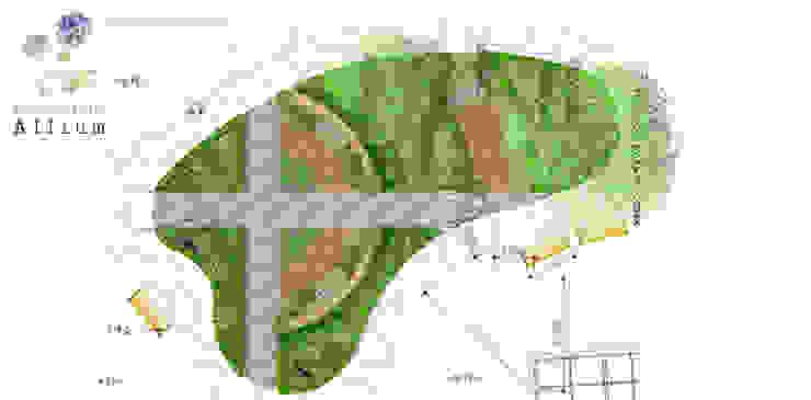 아산2차배방푸르지오 모던스타일 정원 by Garden Studio Allium 모던
