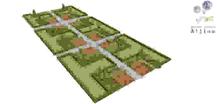 화성동탄2신도시 푸르지오 모던스타일 정원 by Garden Studio Allium 모던