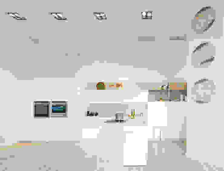 Cocinas sin tirador de XEY Cocinas de estilo moderno de XEY Corporación Empresarial Moderno