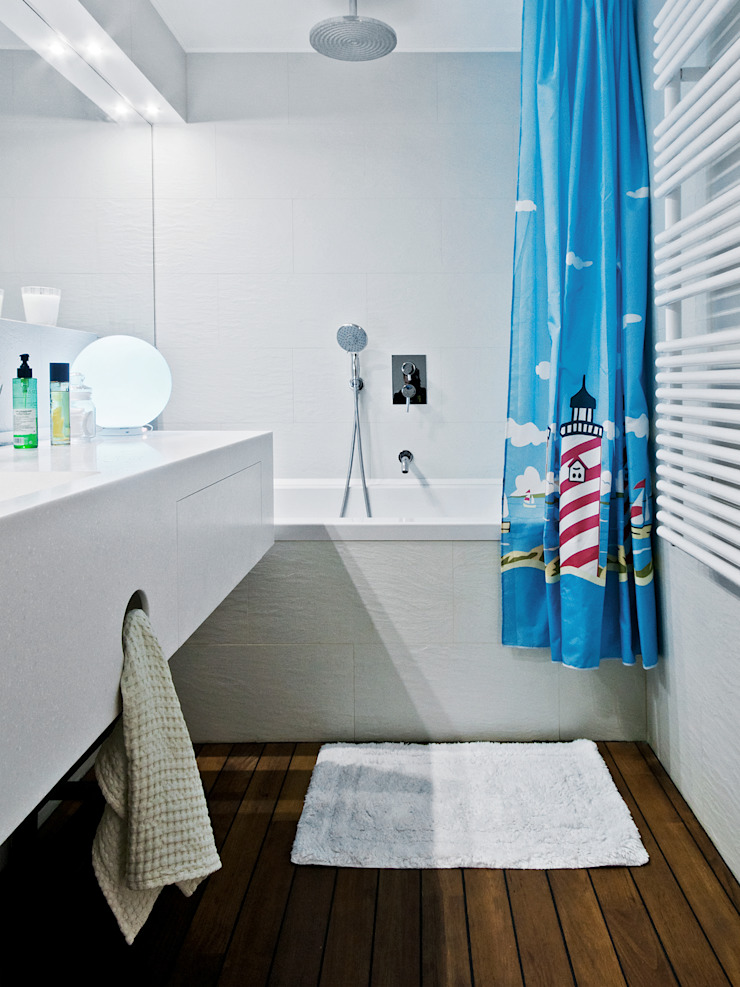 Owner /designer Eclectic style bathroom
