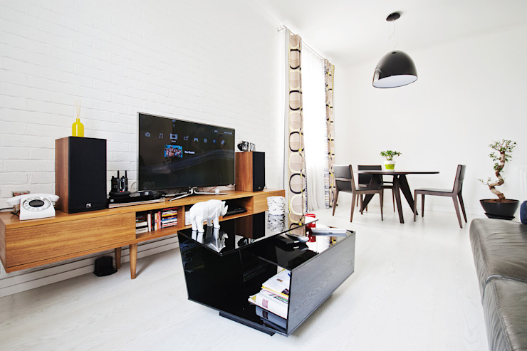 Owner /designer Industrial style living room