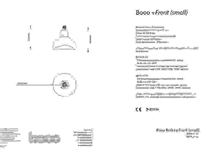 Specsheet of Front's small lamp van Booo BV