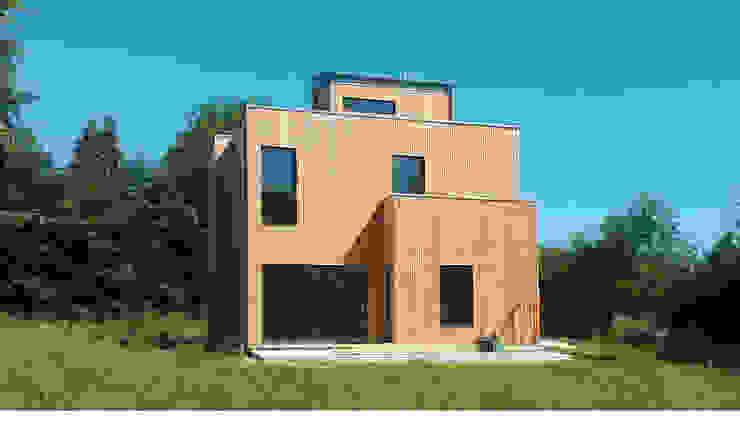 Maison basse consommation à Fleury la forêt (Eure) Maisons modernes par kapok Moderne
