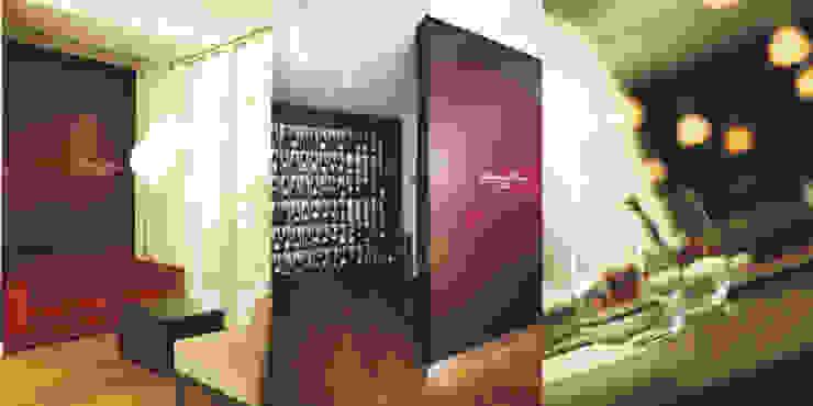 Sala de espera e garrafeira por Traço Magenta - Design de Interiores Moderno