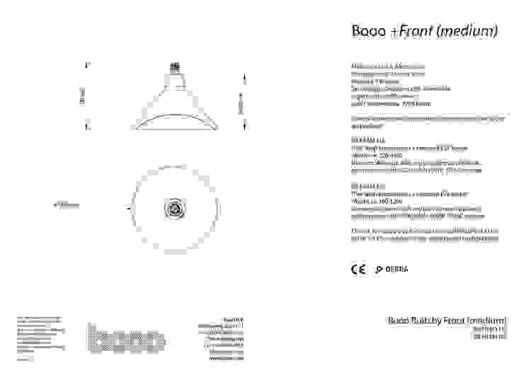 Specsheet of the medium sized lamp van Booo BV