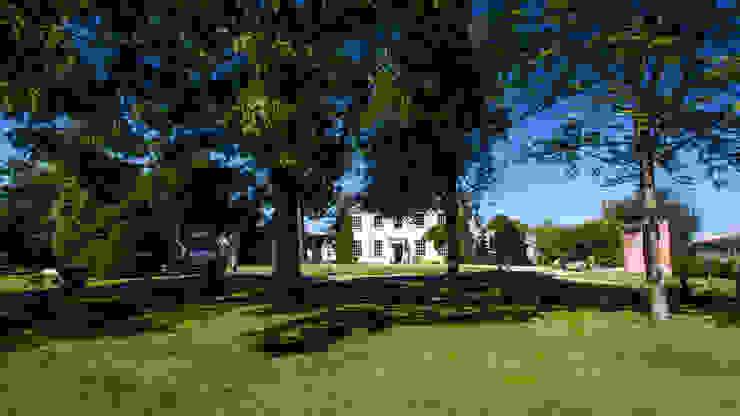 Framing the house facade. Country style garden by Alasdair Cameron Design Country