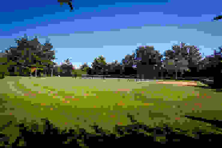 Private court arena Minimalist style garden by Alasdair Cameron Design Minimalist