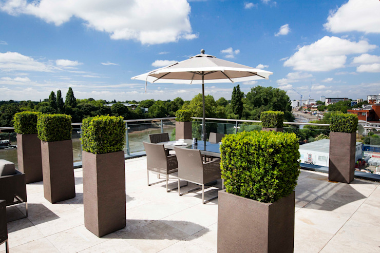 Roof terrace by Cameron Landscapes and Gardens, Modern