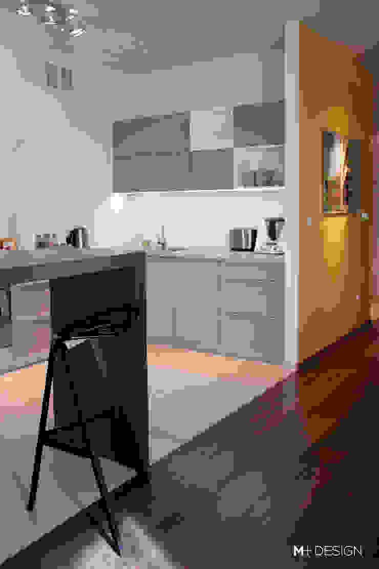 Mieszkanie 64m2 Minimalistyczna kuchnia od M+ DESIGN Marta Dolnicka Marchaj Minimalistyczny