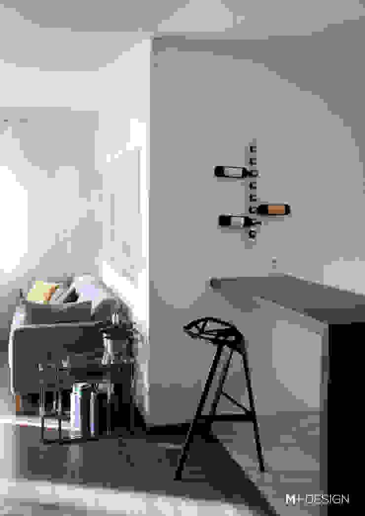 Mieszkanie 64m2 Minimalistyczna jadalnia od M+ DESIGN Marta Dolnicka Marchaj Minimalistyczny