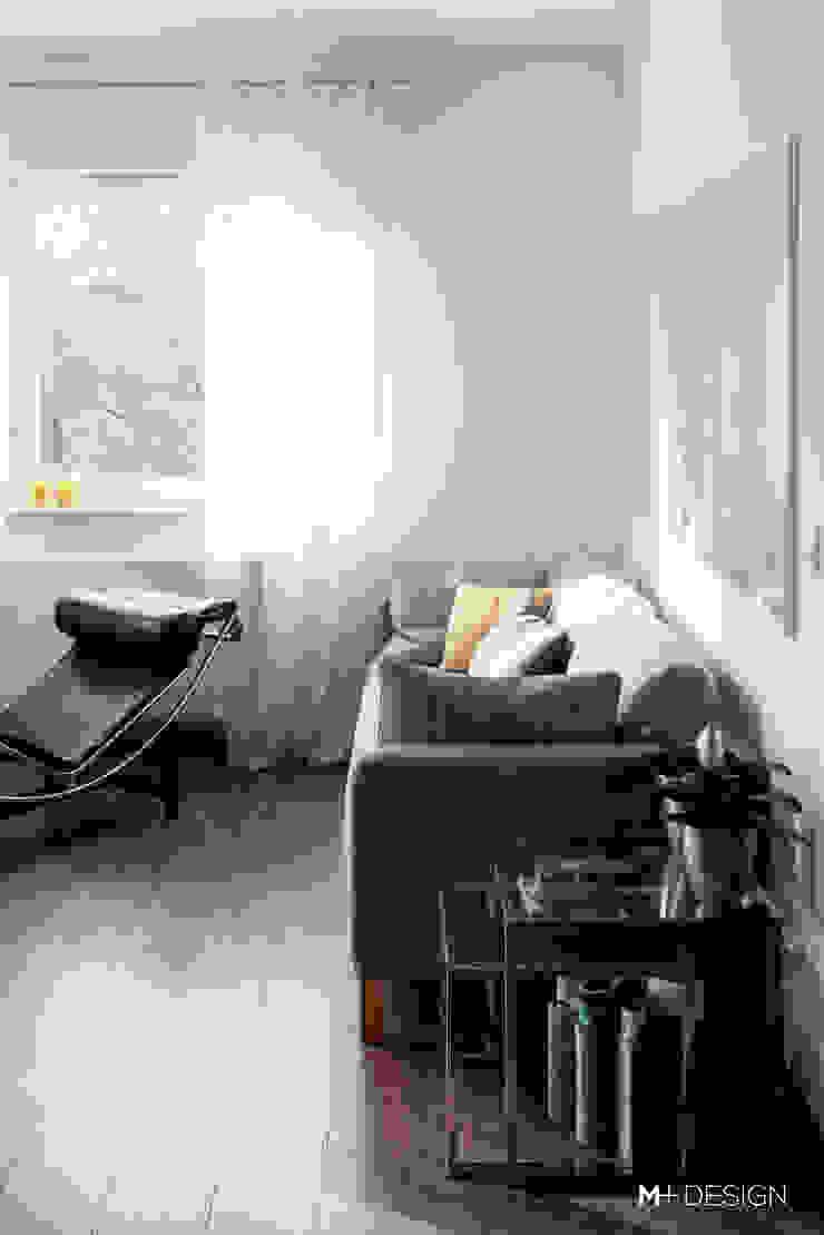 M+ DESIGN Marta Dolnicka Marchaj Minimalist living room