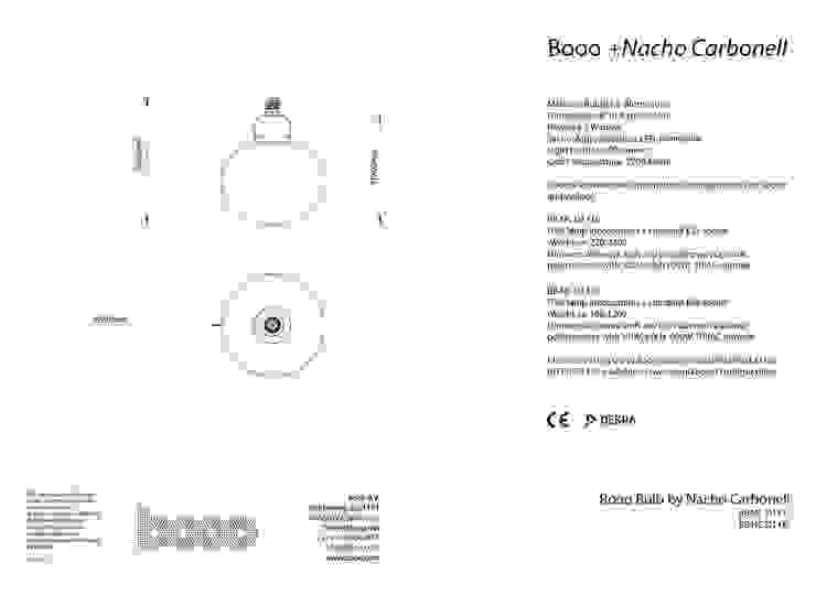 The specsheet of the Nacho bubble lamp van Booo BV