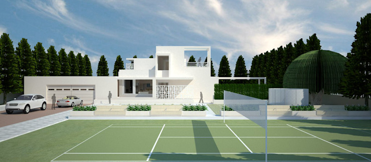 White Retreat Minimalist houses by Neotecture Minimalist