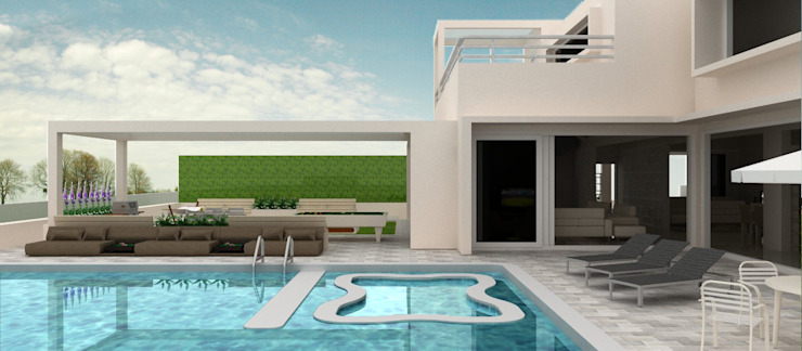 Pool View Minimalist pool by Neotecture Minimalist