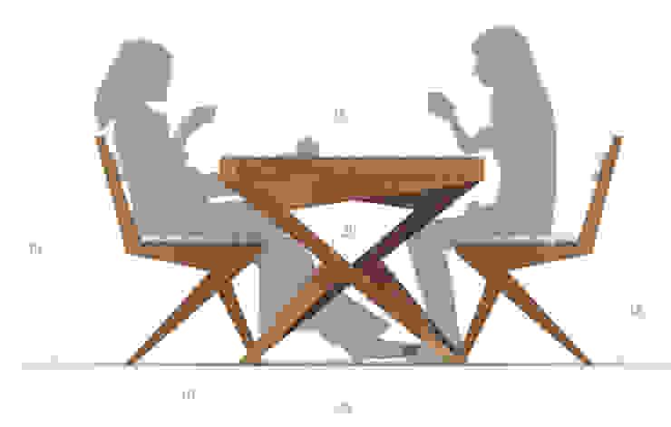 Cris Cross Dining Set: minimalist  by Neotecture, Minimalist