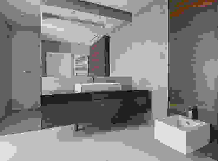 LAZIENKA PIĘTRO Nowoczesna łazienka od PAWEL LIS ARCHITEKCI Nowoczesny