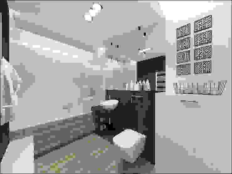Złotniki Minimalistyczna łazienka od OHlala Wnętrza Minimalistyczny