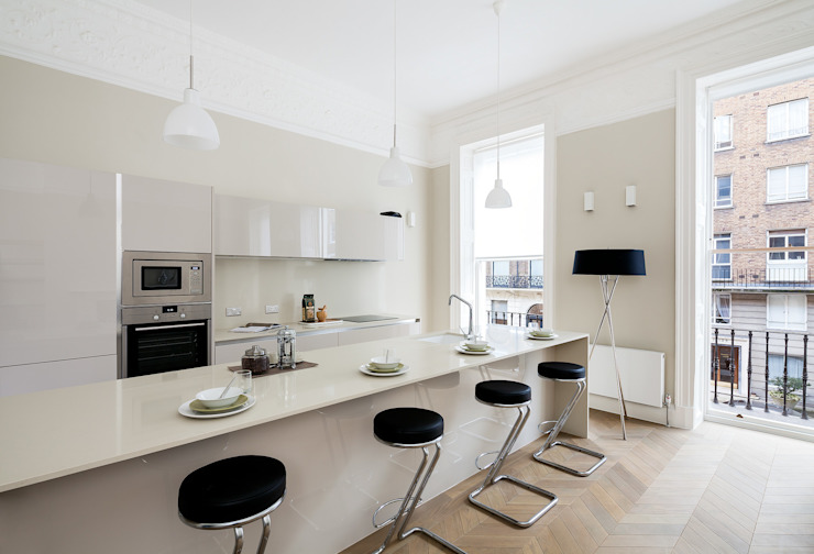 122 Harley Street Sonnemann Toon Architects Nowoczesna kuchnia