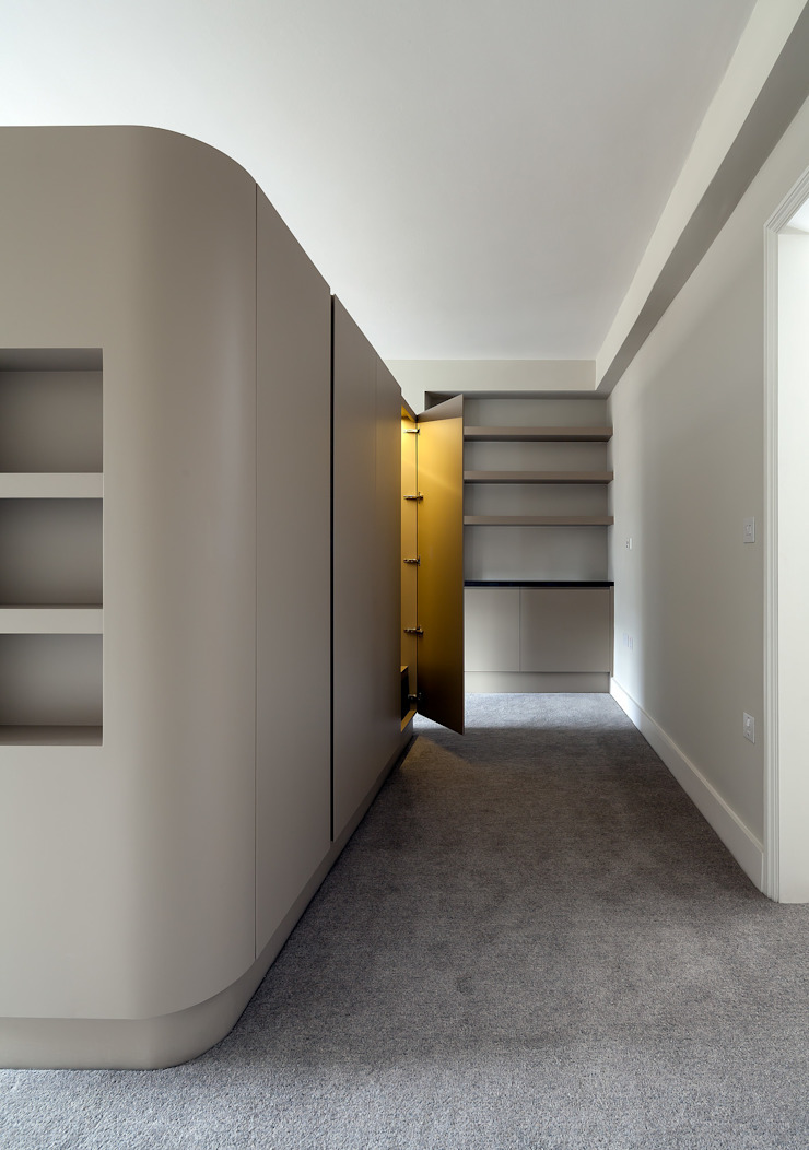 122 Harley Street Sonnemann Toon Architects Korytarz, hol i schodyMeble do przechowywania