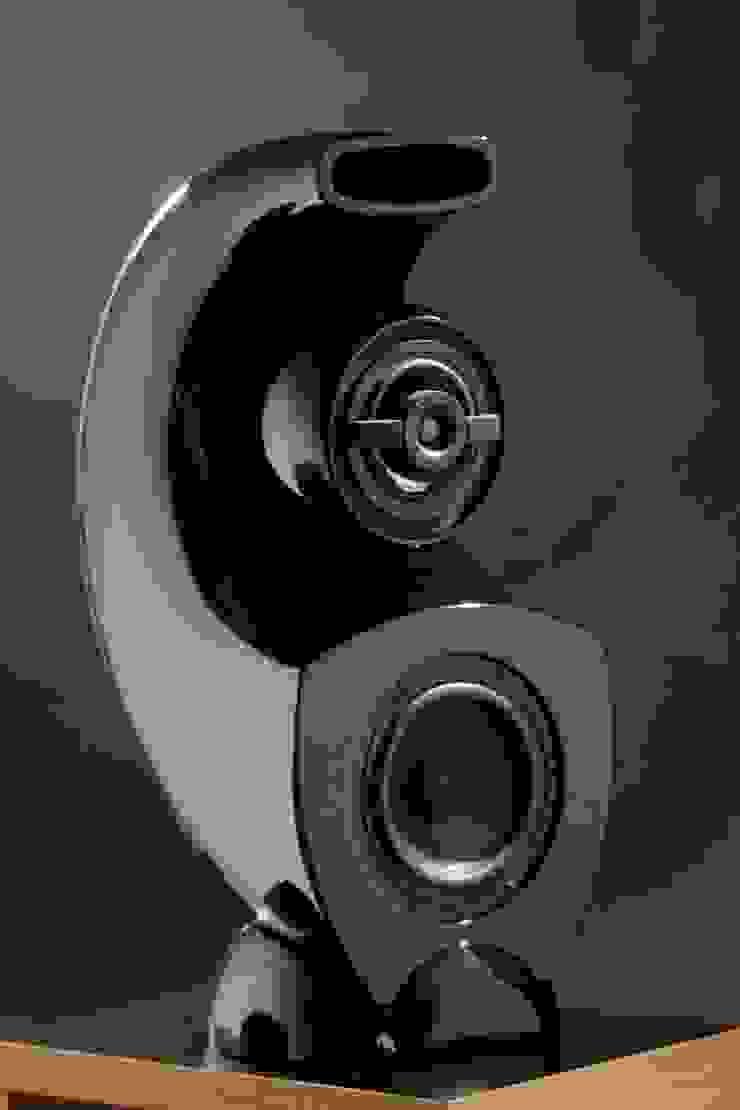 Aurea.Diffusore a 3 Vie con caricamento a curva logaritmica Sala multimediale eclettica di Zappata and Partners Eclettico