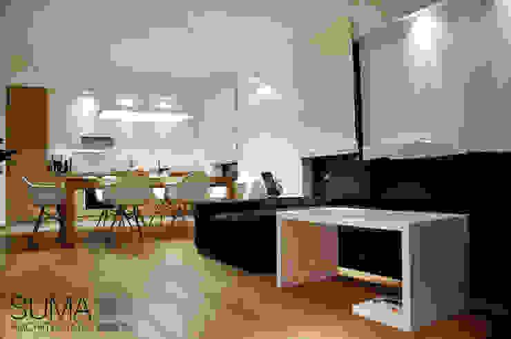 WARSAW ONE Skandynawski salon od SUMA Architektów Skandynawski