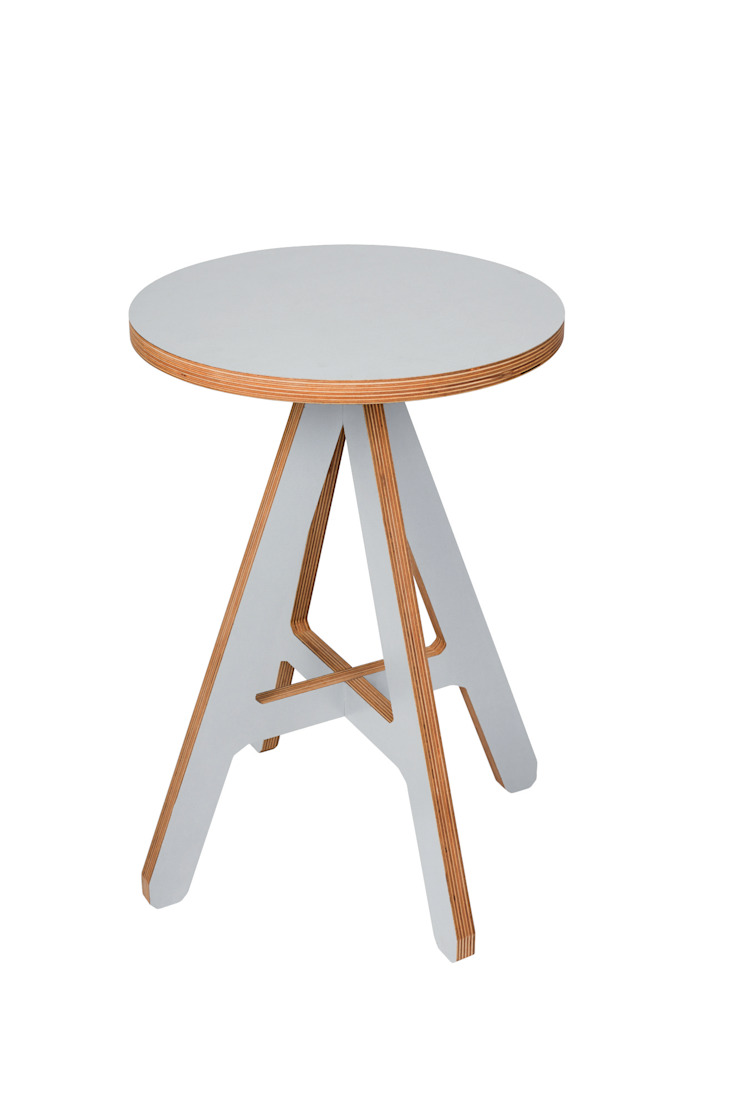 byALEX - 'A' Stool in Grey: modern  by Edited, Modern