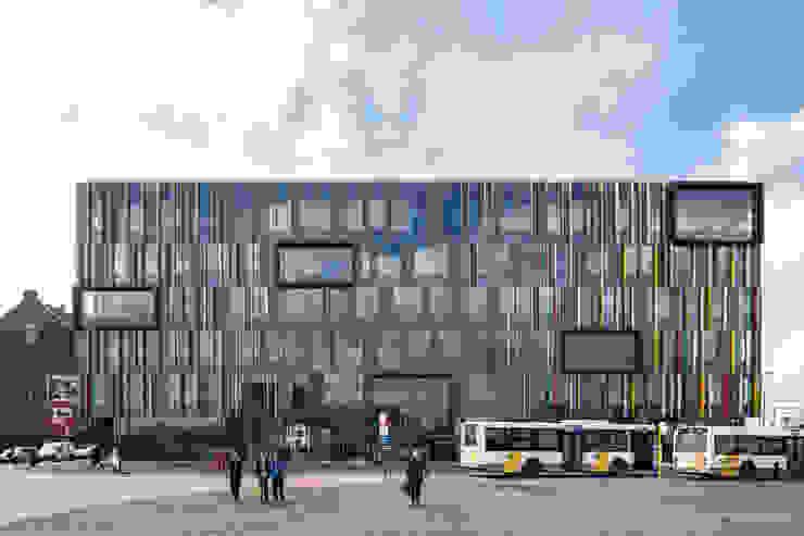 Zicht vanaf het werfplein Moderne kantoorgebouwen van Abscis Architecten bvba Modern