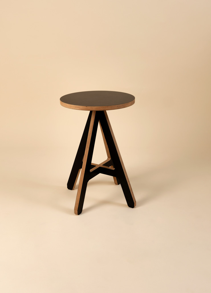byALEX - 'A' Stool in Black: modern  by Edited, Modern
