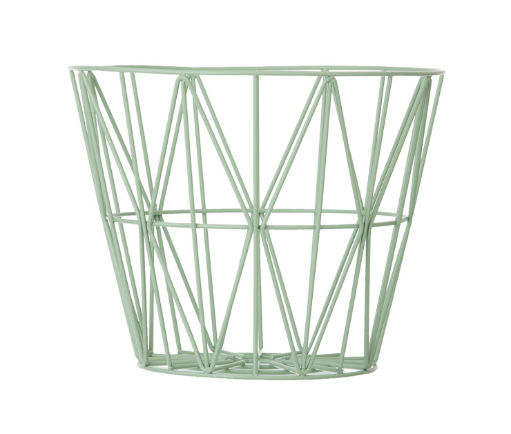 Wire Basket in Mint: scandinavian  by Edited, Scandinavian