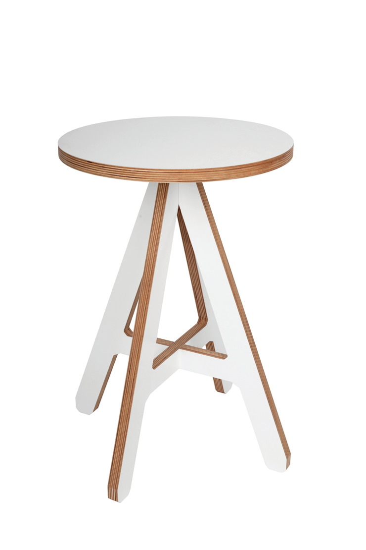 byALEX - 'A' Stool in White: modern  by Edited, Modern