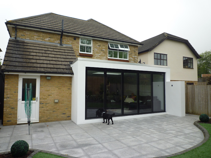 Rear Elevation - Before Modern Houses by Arc 3 Architects & Chartered Surveyors Modern