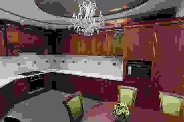 Классическая кухня. Дизайн проект. Кухня в классическом стиле от Цунёв_Дизайн. Студия интерьерных решений. Классический