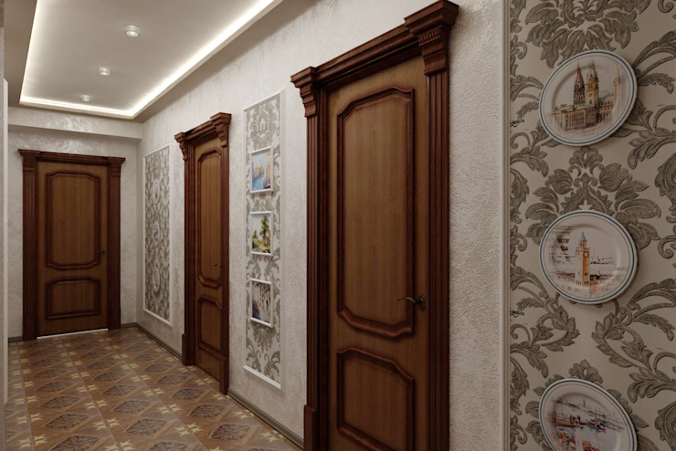 Klassischer Flur, Diele & Treppenhaus von Цунёв_Дизайн. Студия интерьерных решений. Klassisch
