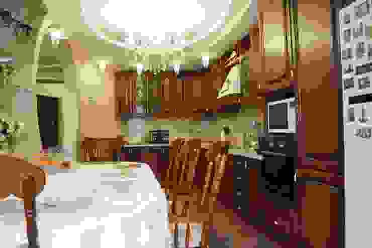 Классическая интерьер. Реализованный проект. Кухня в классическом стиле от Цунёв_Дизайн. Студия интерьерных решений. Классический
