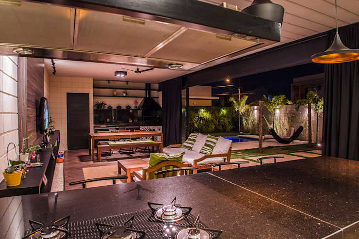 Sala de Estar/Jantar Salas de estar minimalistas por HAUS Minimalista