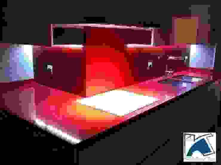 Diseños de Cocinas en Granada Cocinas de estilo moderno de Kansei Diseño y Decoración en la Cocina Moderno Cuarzo