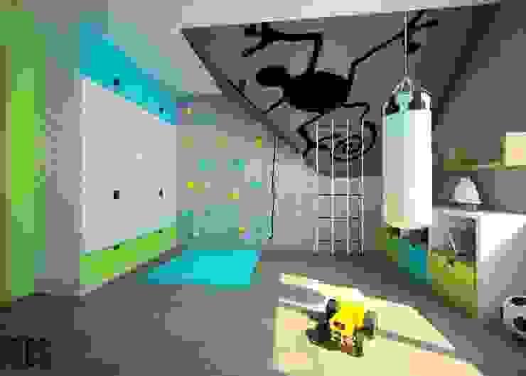Projekt mieszkania Mysłowice Nowoczesny pokój dziecięcy od OES architekci Nowoczesny
