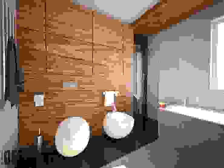 Projekt mieszkania Mysłowice Nowoczesna łazienka od OES architekci Nowoczesny