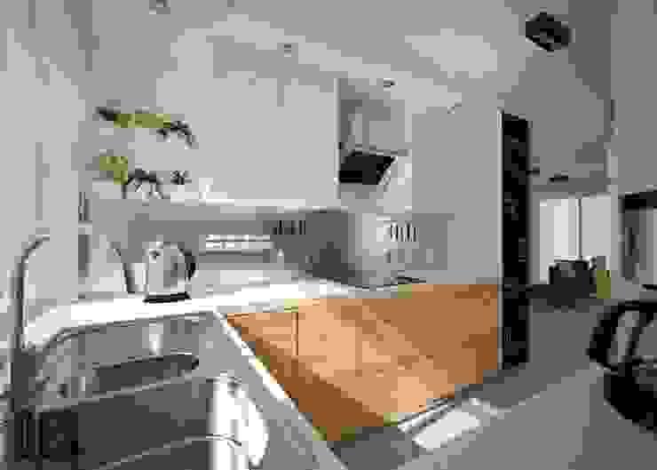 Projekt mieszkania Mysłowice Nowoczesna kuchnia od OES architekci Nowoczesny