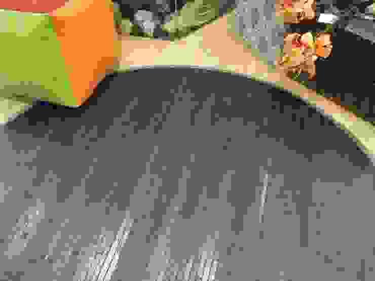 Alfombra de bambú redonda en color gris de latiendawapa Ecléctico