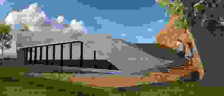PT - Perspectiva Norte, EN - North Perspective, FR - Perspective Nord Casas modernas por Office of Feeling Architecture, Lda Moderno