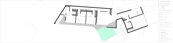 PT - Planta de Rés-do-Chão, EN - Floor Plan, FR - Plan Niveau 0 por Office of Feeling Architecture, Lda