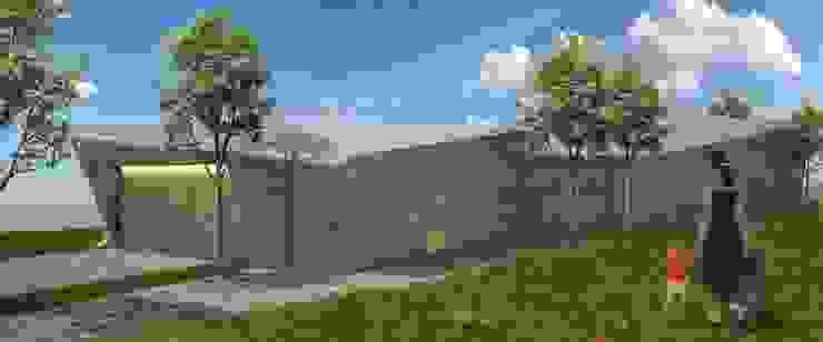PT - Perspectiva Oeste, EN - West Perspective, FR - Perspective Ouest Casas modernas por Office of Feeling Architecture, Lda Moderno
