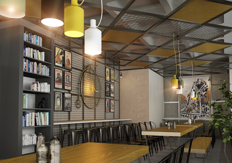 Cafe Project Modern Duvar & Zemin BA DESIGN Modern