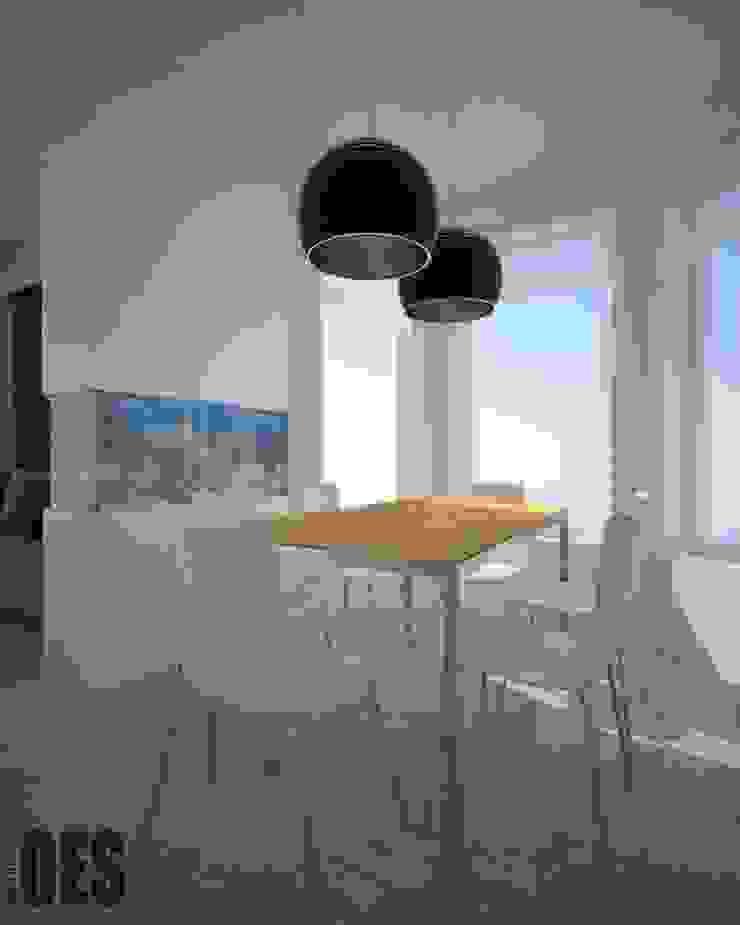 Projekt mieszkania Mysłowice Minimalistyczna jadalnia od OES architekci Minimalistyczny