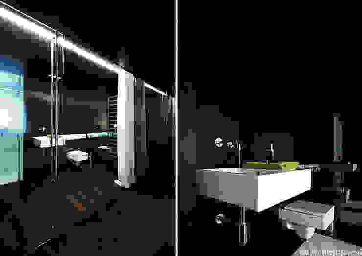 Aranżacja wnętrza mieszkania w Gdyni Minimalistyczna łazienka od ANIEA Minimalistyczny
