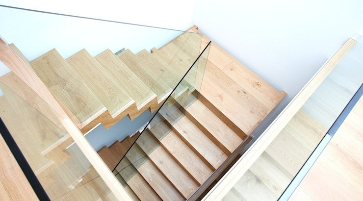North London House Extension Modern Corridor, Hallway and Staircase by Caseyfierro Architects Modern